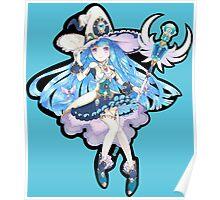 Cute Anime Magic Girl Poster