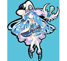 Cute Anime Magic Girl Photographic Print