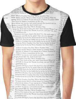 We Are Number One lyrics Graphic T-Shirt