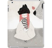 Spectacled bear visits iPad Case/Skin