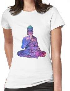 Space Buddha Dictionary Art Womens Fitted T-Shirt