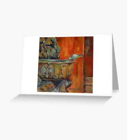 A Cool Drink by Chris Brandley Greeting Card