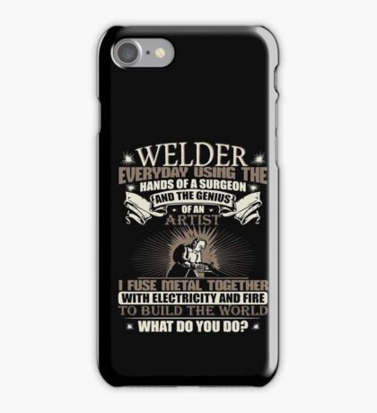 Welding Soft Screen Printed Tshirt iPhone Case/Skin