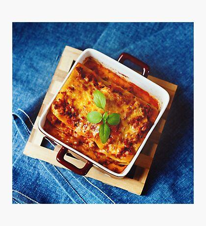 Italian Food. Lasagna plate. Photographic Print