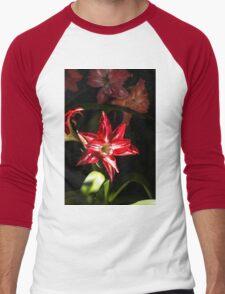 Red Star/Flower - Nature Photography Men's Baseball ¾ T-Shirt