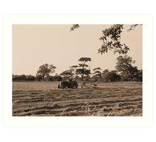 Vintage Farming Art Print
