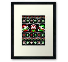 Super Christmas Bros Framed Print
