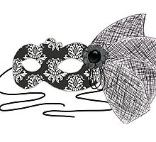 Black and White Masquerade Mask by BubblegumLocks