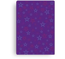 Purple and Blue Stars Canvas Print