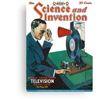 Build your own television receiver 1928 Canvas Print