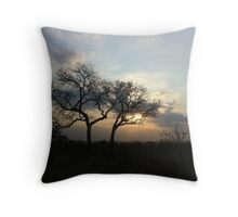 Africa sunset in Kruger National park Throw Pillow