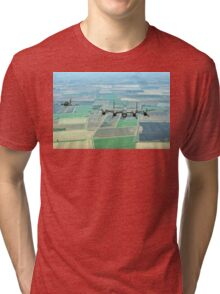 Escorted Lancaster over the Lincolnshire Fens Tri-blend T-Shirt