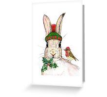 Christmas Bunny Greeting Card