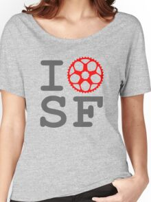 I Bike SF - San Francisco Bicyclist Women's Relaxed Fit T-Shirt