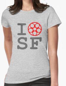 I Bike SF - San Francisco Bicyclist Womens Fitted T-Shirt