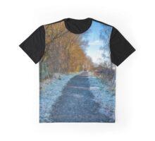 Winter Path in Scotland Graphic T-Shirt