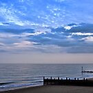 Walcott seafront Norfolk by Avril Harris