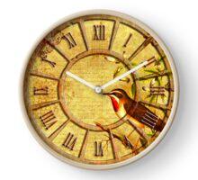 042 Wall Clock Old Clock with a Bird Clock