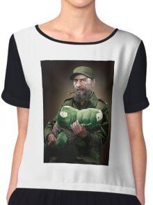 Fidel Castro The Hero of Cuba Chiffon Top