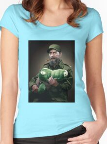 Fidel Castro The Hero of Cuba Women's Fitted Scoop T-Shirt