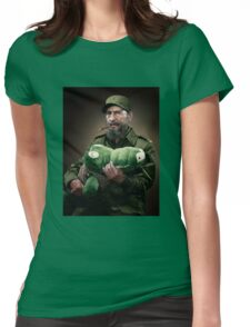 Fidel Castro The Hero of Cuba Womens Fitted T-Shirt