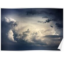 Dramatic sky with stormy clouds  Poster