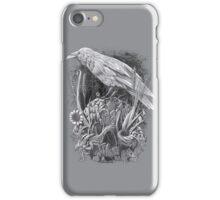 White Raven iPhone Case/Skin