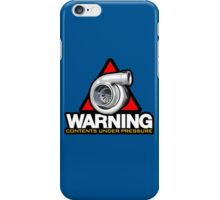 WARNING! contents under pressure (1) iPhone Case/Skin