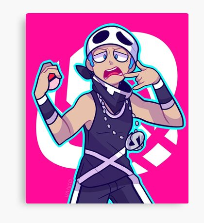 TEAM SKULL GRUNT Canvas Print