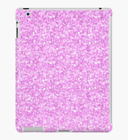 Pastel pink glitter and sparkles print pattern iPad Case/Skin