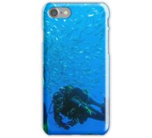 Divers surrounded by fish iPhone Case/Skin