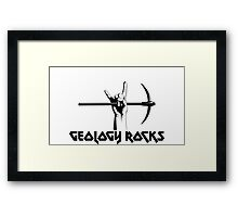 Geology Rocks Framed Print