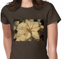 Elegant Ivory Poinsettia - An Exotic Christmas Greeting Womens Fitted T-Shirt