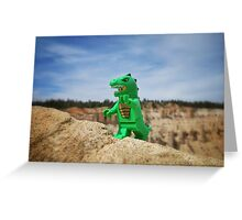 Dinosaur suit Greeting Card