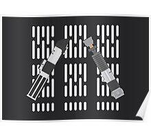 Vader and Obi-Wan Lightsaber Poster Poster