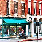 Rainy Day on Main Street by Nadya Johnson