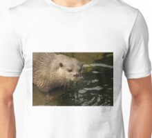 Close-up of dripping wet Asian short-clawed otter Unisex T-Shirt