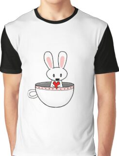 Rabbit In Cup Graphic T-Shirt