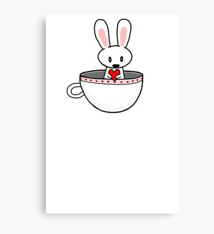 Rabbit In Cup Canvas Print