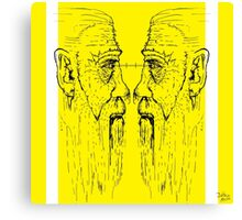 Old men yellow Canvas Print