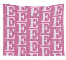 Letter E Blue And Pink Dots And Dashes Monogram Initial Wall Tapestry