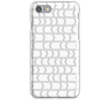 Optical Illusion Arrows White iPhone Case/Skin