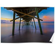 Bogue Inlet Pier at Dawn Poster
