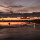 Sunset over the River Forth by Jeremy Lavender Photography