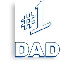 Number 1 #1 Dad Canvas Print