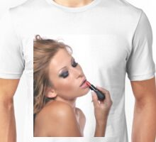 Sensual female face with make up Unisex T-Shirt