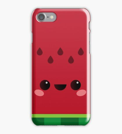 Wally the Kawaii Watermelon. So cute! iPhone Case/Skin