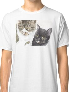 Two cats - tabby and tortie Classic T-Shirt