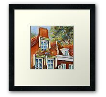 Dutch Gables by Chris Brandley Framed Print