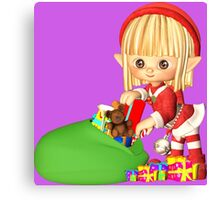 Santa's Little Elf Canvas Print